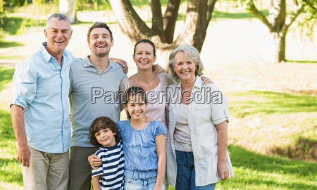 portrait of a happy extended family