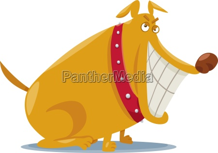 funny bad dog cartoon illustration