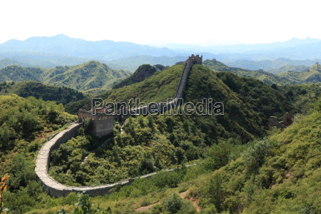 the great wall in china at