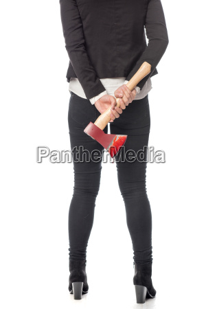 woman with ax