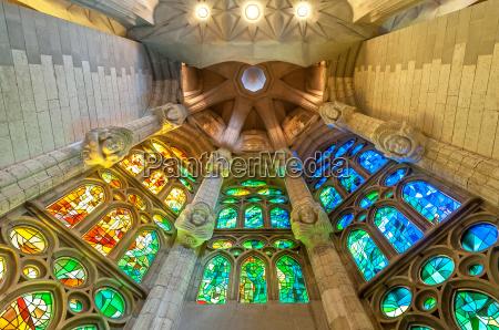 sagrada familia of barcelona in spain