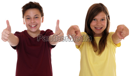 laughing children are successful and show