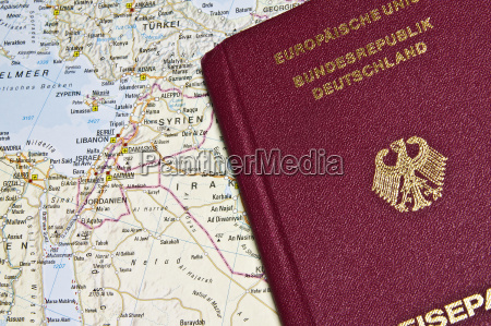 close up of a german passport