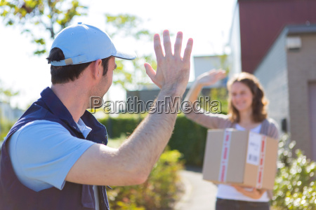delivery man succeed during his delivery