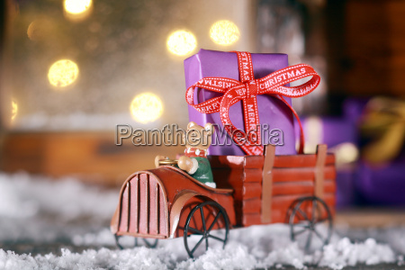 cute rustic wooden toy with a