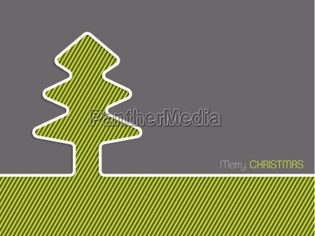 christmas greeting card with striped christmas