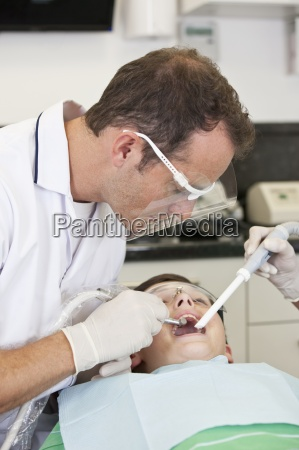 a young boy patient having dental