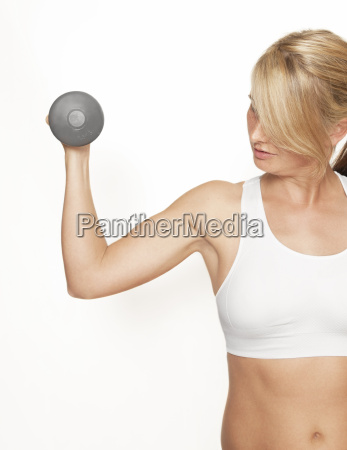 fitness woman with top