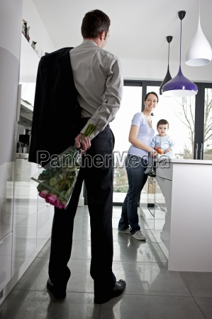 a man returning home to his