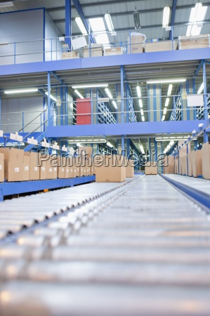 boxes, on, conveyor, belts, in, distribution - 12917860