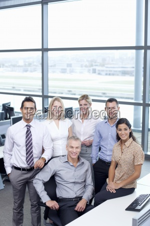 portrait of smiling business people in