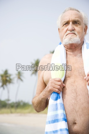one person only man senior adult