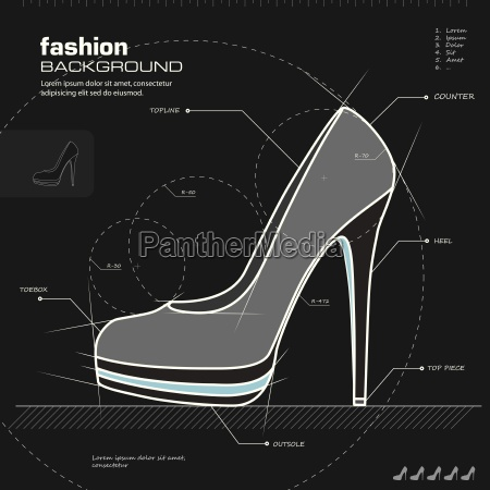 woman shoes design vector