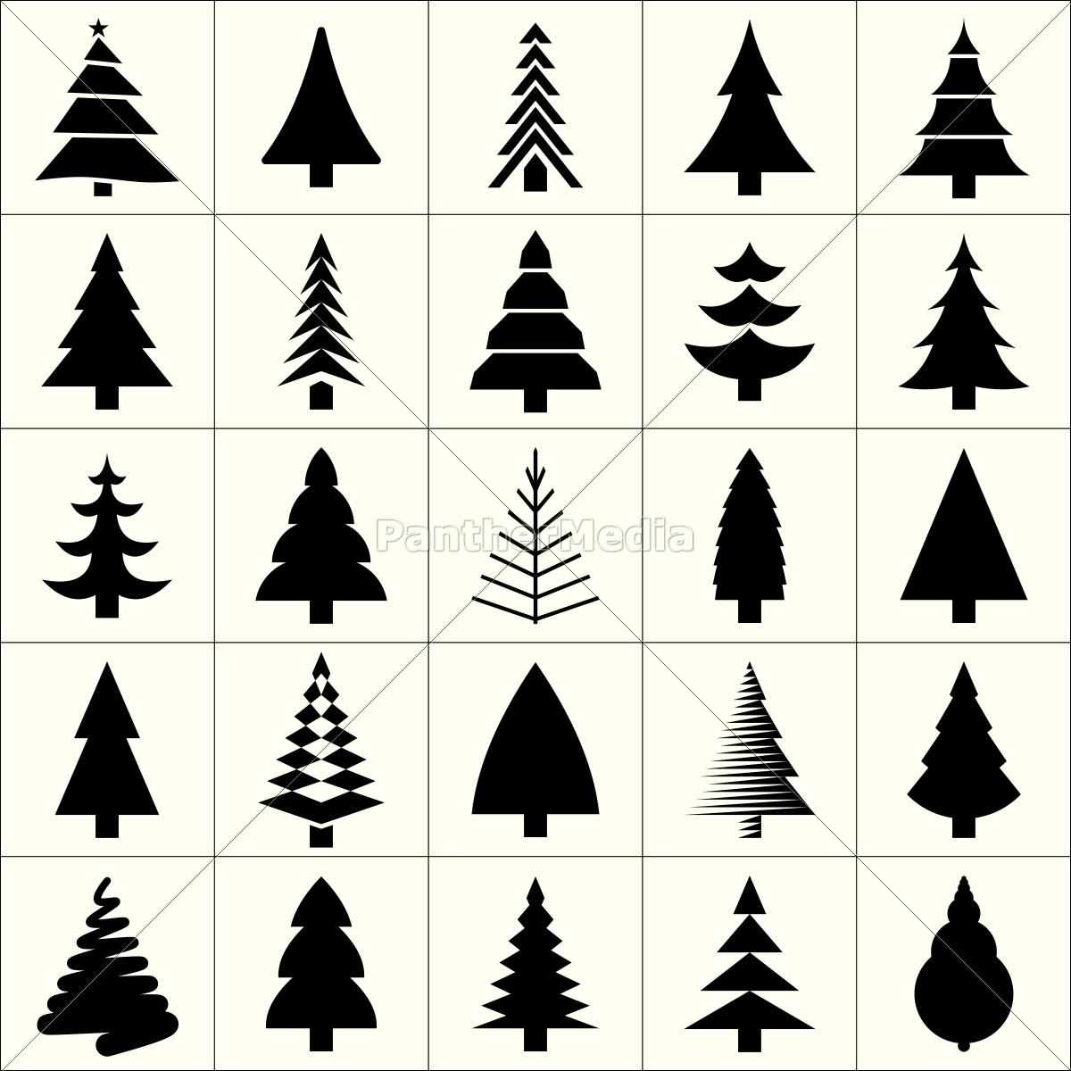 Christmas Tree Icon.Royalty Free Vector 12930164 Christmas Tree Silhouette Design Vector
