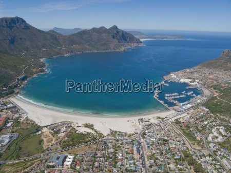 aerial view of hout bay cape