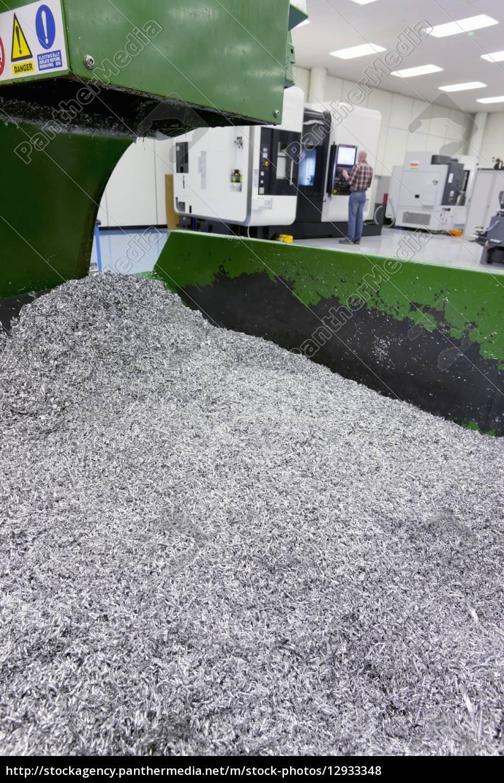 bin, of, waste, metal, from, engineering - 12933348