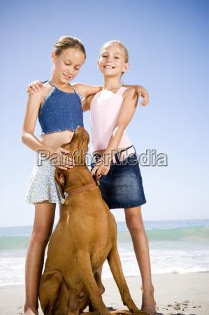 two people girls children 10 12