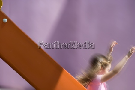girl 5 7 on slide side