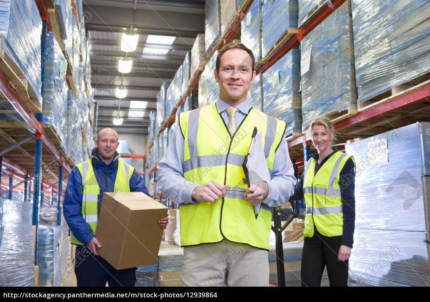 portrait, of, smiling, warehouse, manager, and - 12939864