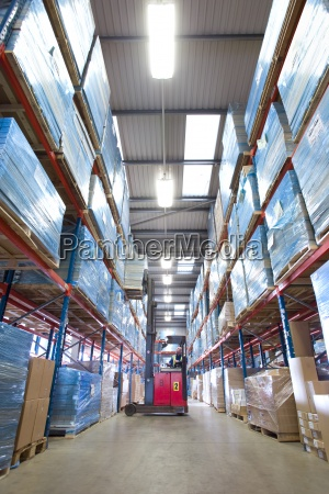 warehouse, worker, lifting, boxes, from, shelf - 12939854