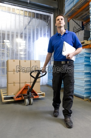 worker on loading dock pulling inventory