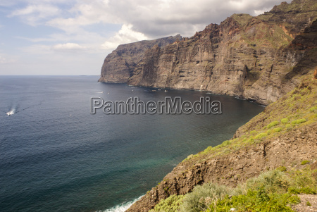 view of los gigantes cliffs tenerife