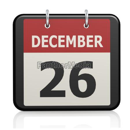 december 26 boxing day calendar