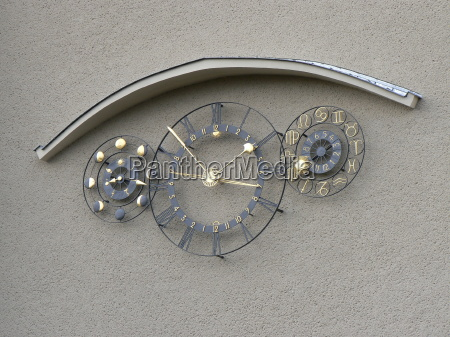 astronomical clock moon phase clock on