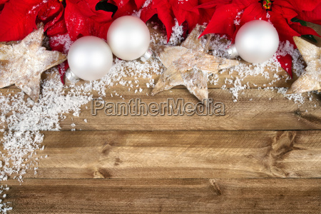 christmas decoration on wood