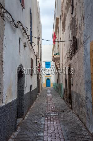 narrow street in the medina of