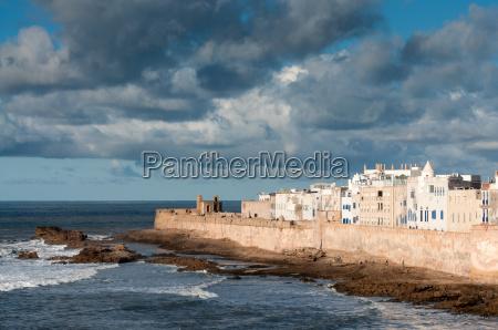 coastline of essaouira morocco africa