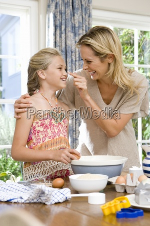 mother and daughter 8 10 baking