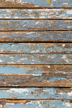 old blue and white lacquered wooden