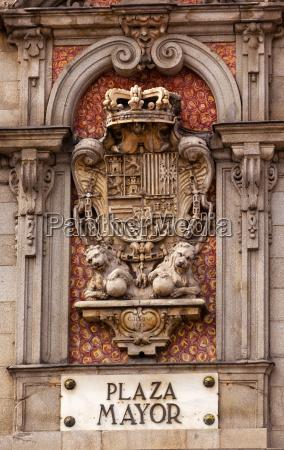 plaza mayor royal symbol sign madrid