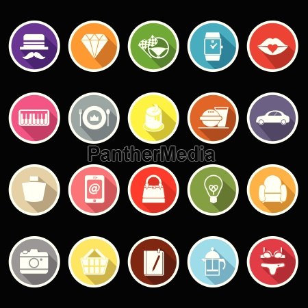 department store item flat icons with