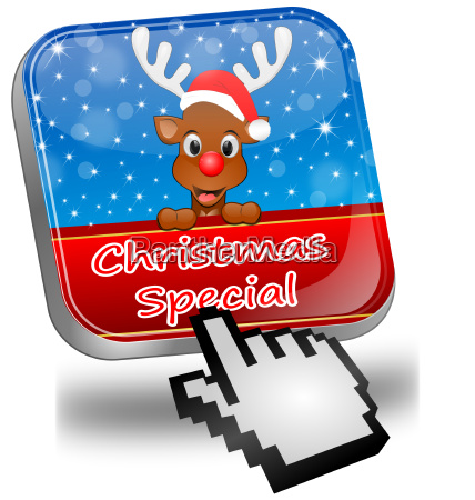 button christmas special with reindeer and