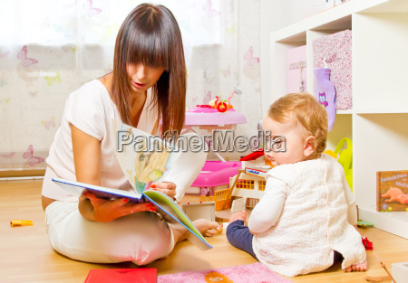 mother and child with picture book