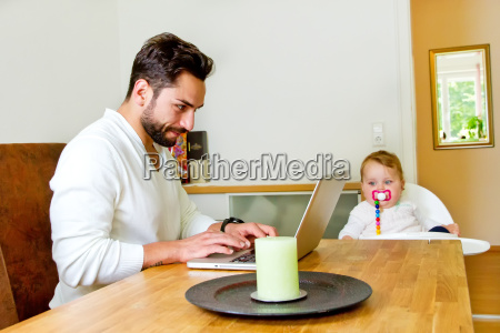 father works in the computer at