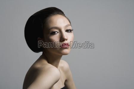 horizontal color photography series beauty studio