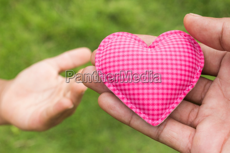 hand give heart love symbol