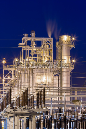 power generator plant night