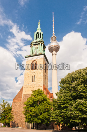 st marys church and tv tower