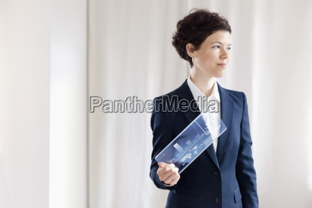 digital tablet computer businesswoman business success