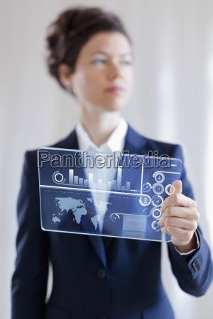 graph digital tablet document data computer