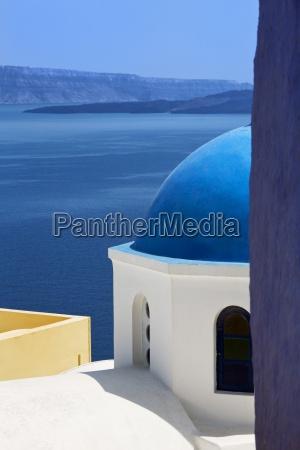 azul religioso iglesia ciudad cupula grecia