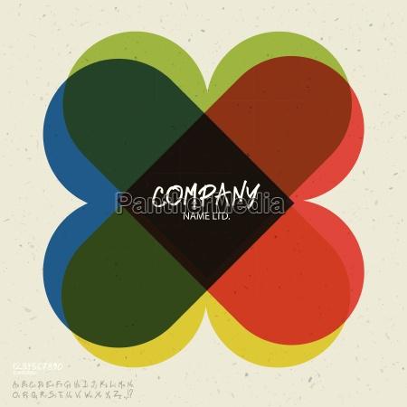 social abstract logo vector design template