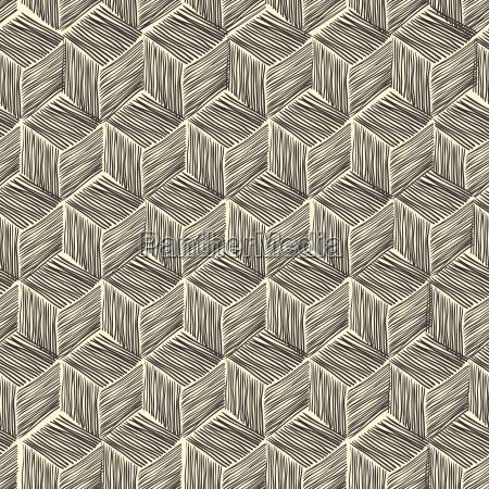 seamless hand drawn pattern rhombus vector