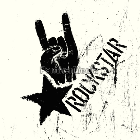 rockstar symbol with sign of the