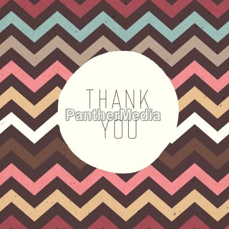 thank you card zigzag pattern seamless