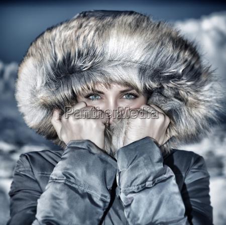 olhar do tempo de inverno da